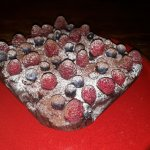 Brownie aux Noix, Fruits Rouges & Avocat